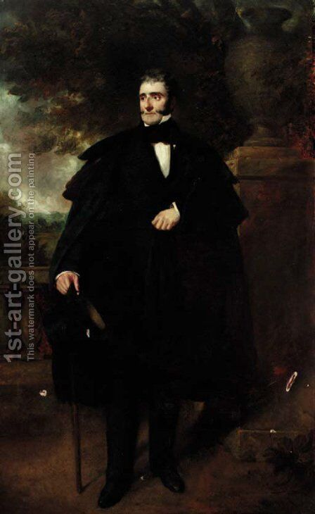 Portrait of a gentleman by (after) Sir Francis Grant - Reproduction Oil Painting