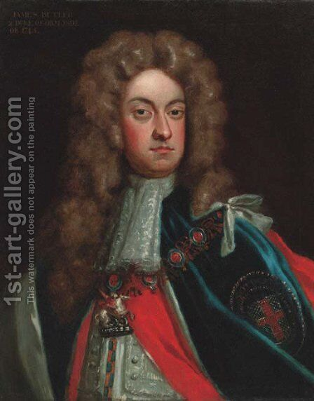 Portrait of James Butler, 2nd Duke of Ormonde (1665-1745), quarter-length, in Garter robes by (after) Kneller, Sir Godfrey - Reproduction Oil Painting