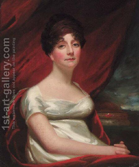 Portrait of Mrs Stewart of Kirkchris by (after) Sir Henry Raeburn - Reproduction Oil Painting