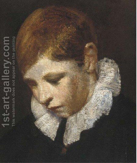 A choir boy by (after) Sir Joshua Reynolds - Reproduction Oil Painting