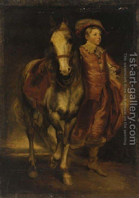 Portrait of a boy by (after) Sir Joshua Reynolds - Reproduction Oil Painting