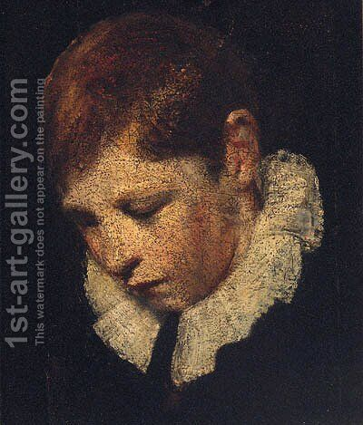 Portrait Of A Boy by (after) Of Sir Joshua Reynolds - Reproduction Oil Painting
