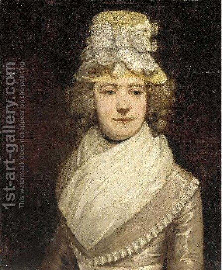 Portrait of a lady 2 by (after) Sir Joshua Reynolds - Reproduction Oil Painting
