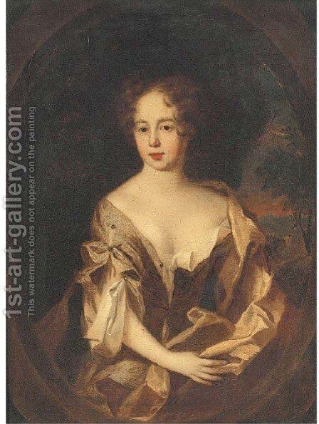 Portrait of Lady Heathcote, wife of Sir John Heathcote, Bt. by (after) Sir Peter Lely - Reproduction Oil Painting