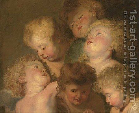 A study of putti by (after) Sir Peter Paul Rubens - Reproduction Oil Painting