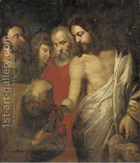 Christ's Charge to Peter by (after) Sir Peter Paul Rubens - Reproduction Oil Painting