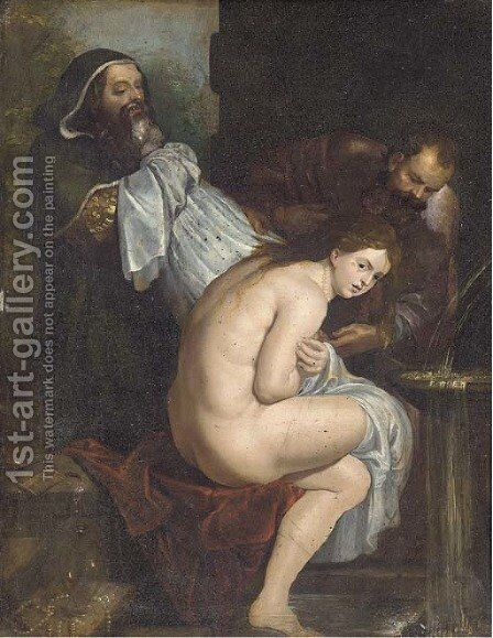 Susanna and the Elders by (after) Sir Peter Paul Rubens - Reproduction Oil Painting