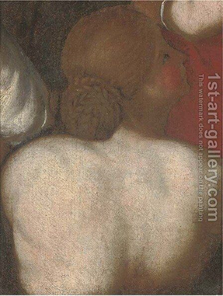 The back of a lady a fragment by (after) Sir Peter Paul Rubens - Reproduction Oil Painting