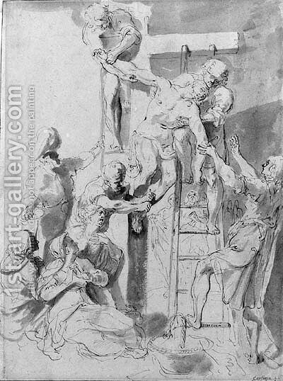 The deposition from the cross by (after) Sir Peter Paul Rubens - Reproduction Oil Painting