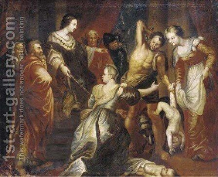 The Judgement of Solomon 4 by (after) Sir Peter Paul Rubens - Reproduction Oil Painting