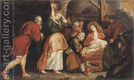 The Nativity by (after) Sir Peter Paul Rubens - Reproduction Oil Painting