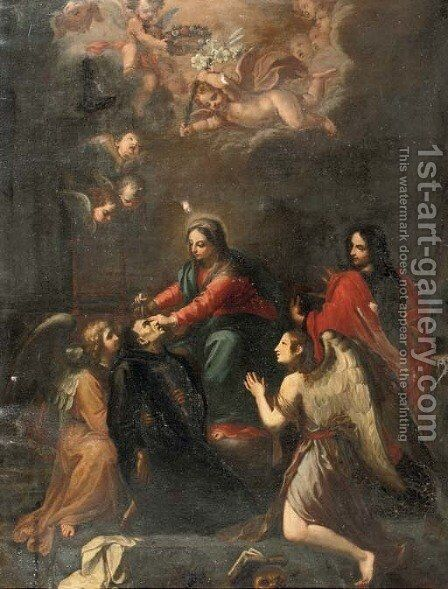 The death of a saint by (after) Stefano Maria Legnani - Reproduction Oil Painting