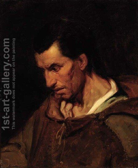 Portrait of a man by (after) Theodore Gericault - Reproduction Oil Painting