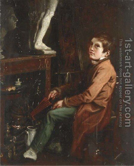 The artist's assistant by (after) Theodore Lane - Reproduction Oil Painting