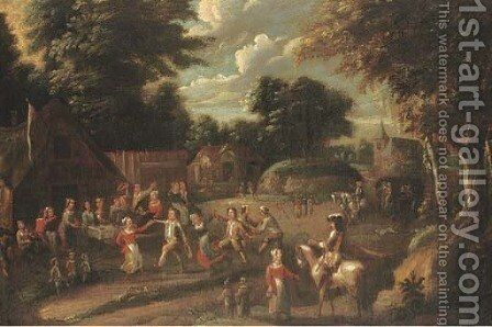 A village kermesse by (after) Thomas Van Apshoven - Reproduction Oil Painting