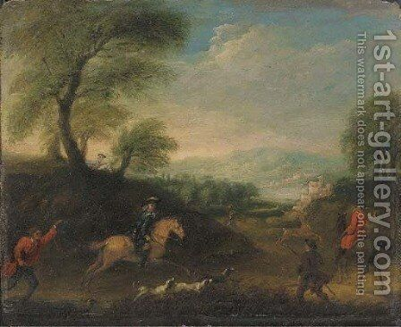 A stag hunt by (after) Thomas Wyck - Reproduction Oil Painting