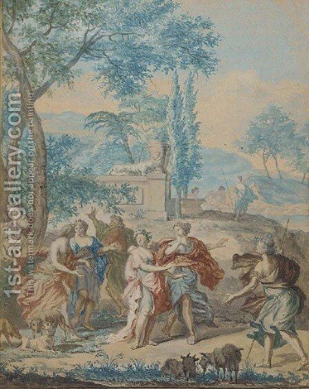 Fete champetre by (after) Tiziano Vecellio (Titian) - Reproduction Oil Painting