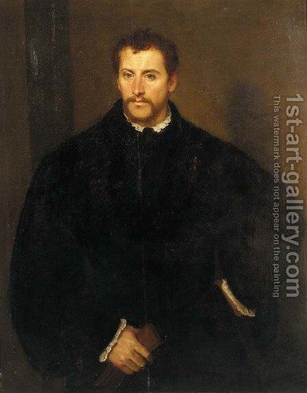 Portrait of a gentleman by (after) Tiziano Vecellio (Titian) - Reproduction Oil Painting