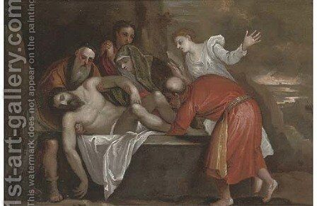 The Entombment by (after) Tiziano Vecellio (Titian) - Reproduction Oil Painting