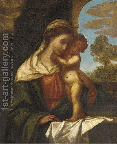 The Madonna and Child 2 by (after) Tiziano Vecellio (Titian) - Reproduction Oil Painting