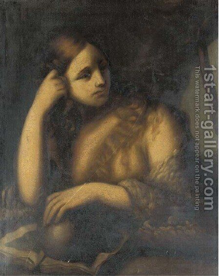 The Penitent Magdalen 2 by (after) Tiziano Vecellio (Titian) - Reproduction Oil Painting