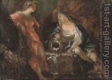 Ceres and a river goddess by (after) Valerio Castello - Reproduction Oil Painting