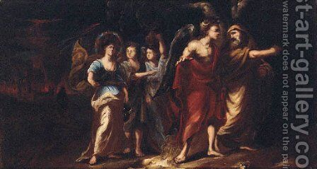 The destruction of Sodom and Gomorrah by (after) Valerio Castello - Reproduction Oil Painting