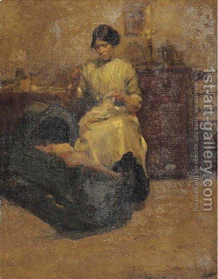 In the nursery by (after) Walter Frederick Osborne - Reproduction Oil Painting