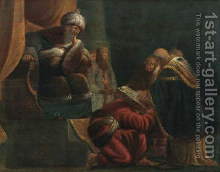 An Old Tetament scene by (after) Willem De Poorter - Reproduction Oil Painting