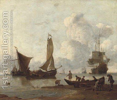 A sea piece by (after) Willem Van De Velde - Reproduction Oil Painting