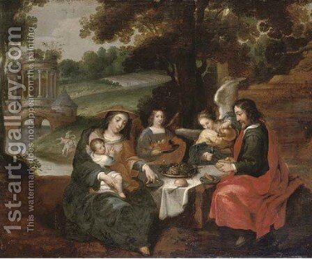 The Rest on the Flight into Egypt by (after) Willem Van, The Elder Herp - Reproduction Oil Painting