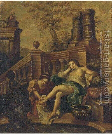 The Bath of Bathsheba by (after) Willem Van Mieris - Reproduction Oil Painting