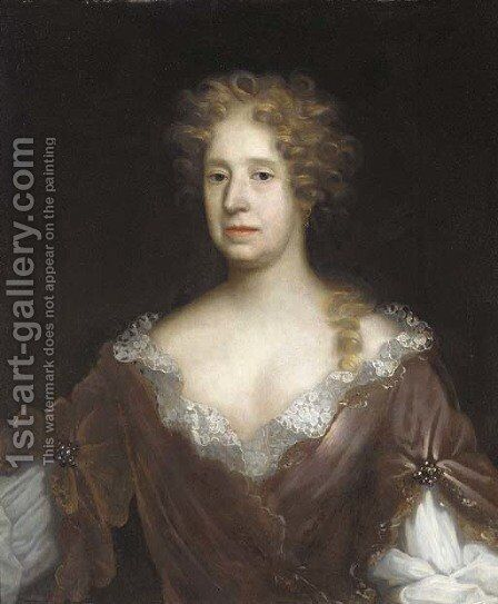 Portrait of a lady 3 by (after) William Wissing Or Wissmig - Reproduction Oil Painting