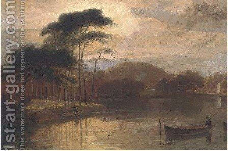 Near Wanstead, Essex by (after) William Daniell - Reproduction Oil Painting