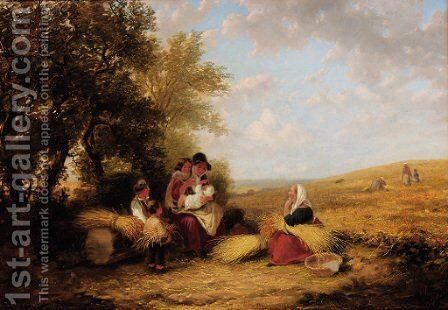 The Gleaners by (after) William Frederick Witherington - Reproduction Oil Painting