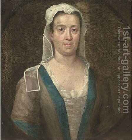Portrait of a maid by (after) William Hogarth - Reproduction Oil Painting