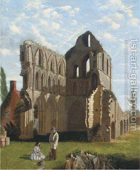 Much Wenlock Priory, Shropshire by (after) William Holman Hunt - Reproduction Oil Painting