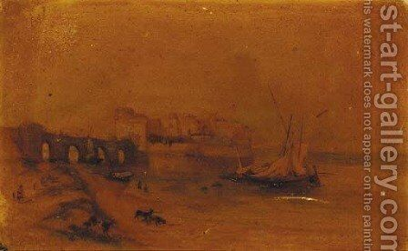 The Citadel at Sidan; and Ruins in a classical landscape by (after) William James Muller - Reproduction Oil Painting