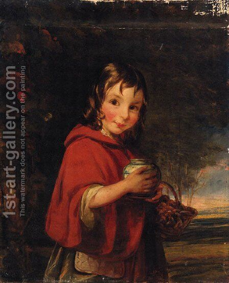 Little Red Riding Hood by (after) Of William Mulready - Reproduction Oil Painting