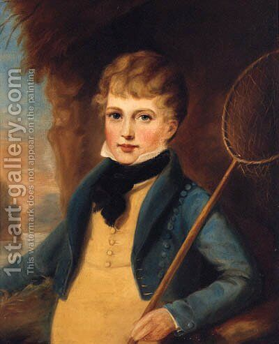 Portrait Of A Boy by (after) Of William Owen - Reproduction Oil Painting