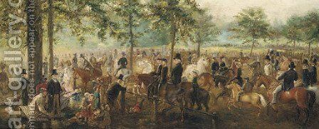 Racing day by (after) Frith, William Powell - Reproduction Oil Painting