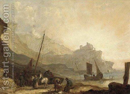 Fishermen unloading the catch by (after) William Joseph Shayer - Reproduction Oil Painting