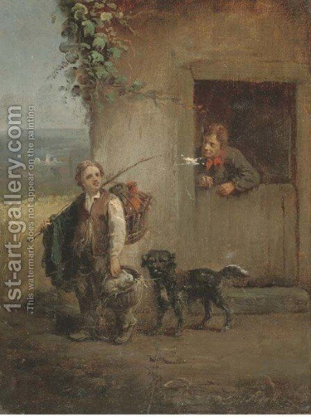 Returning from market by (after) William Joseph Shayer - Reproduction Oil Painting