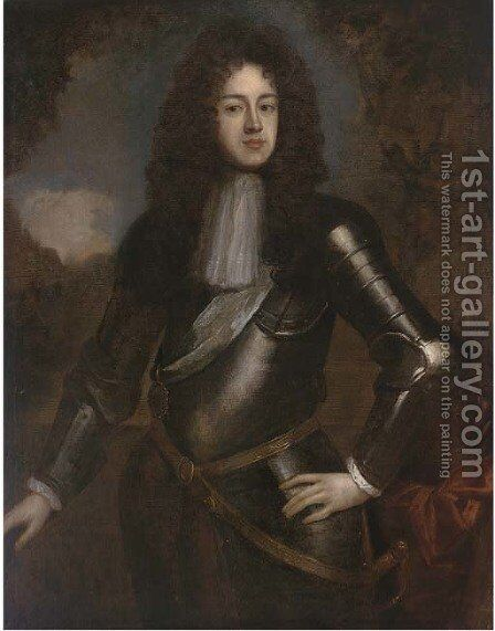 Portrait of James Scott (1649-1685) by (after) William Wissing Or Wissmig - Reproduction Oil Painting