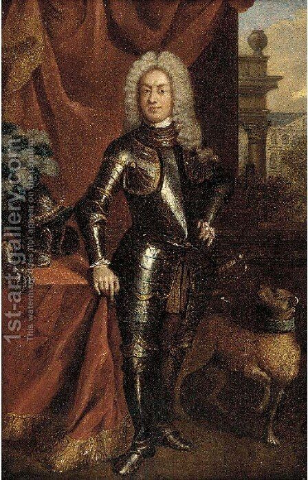 Portrait of Prince George of Denmark (1653-1708) by (after) William Wissing Or Wissmig - Reproduction Oil Painting