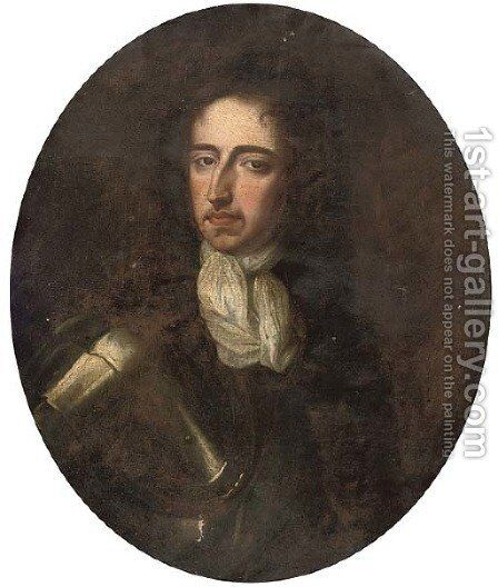 Portrait of William III (1650-1702) by (after) William Wissing Or Wissmig - Reproduction Oil Painting