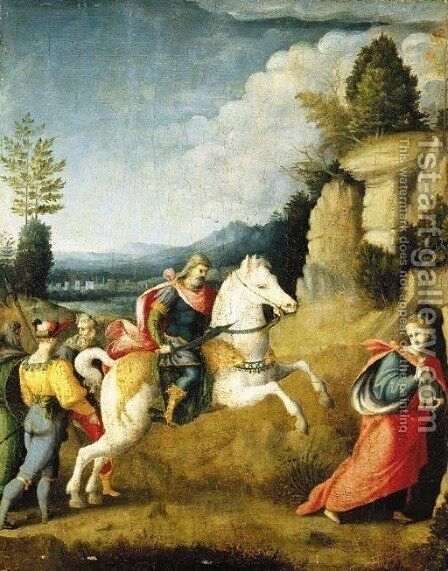 The Persecution of Saint Barbara by (circle of) Ubertini, (Bacchiacca) - Reproduction Oil Painting