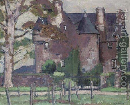Barcaldine Castle by Francis Campbell Boileau Cadell - Reproduction Oil Painting