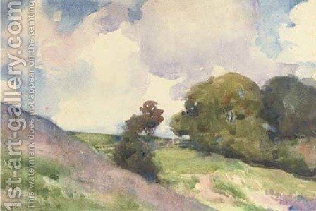 Hilly landscape by Francis Campbell Boileau Cadell - Reproduction Oil Painting
