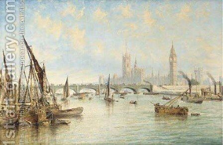 Westminster Bridge with the Houses of Parliament and Westminster Abbey by Francis Moltino - Reproduction Oil Painting